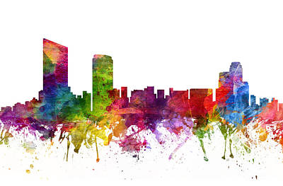 Grand Rapids Cityscape 06 Poster by Aged Pixel