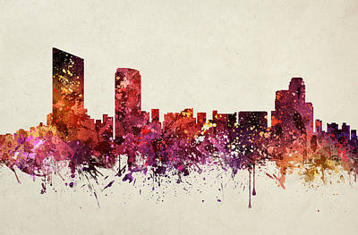 Grand Rapids Cityscape 09 Poster by Aged Pixel