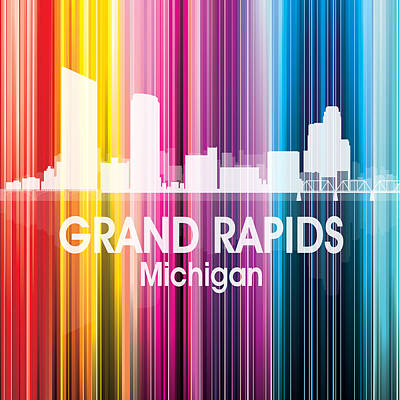 Grand Rapids Mi 2 Squared Poster