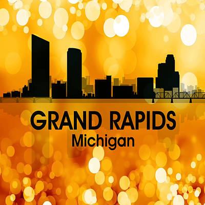Grand Rapids Mi 3 Squared Poster