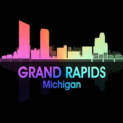 Grand Rapids Mi 5 Squared Poster