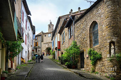 Grand Rue De L'horlogue In Cordes Sur Ciel Poster