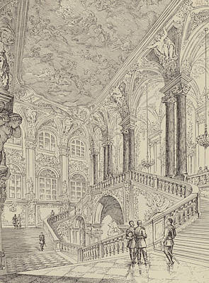 Grand Staircase Of The Winter Palace Poster