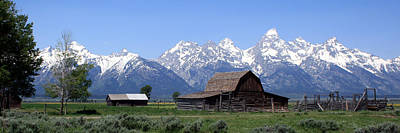 Grand Teton Barn Panarama Poster by George Jones