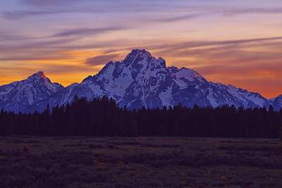 Grand Teton Sunset Sky Poster