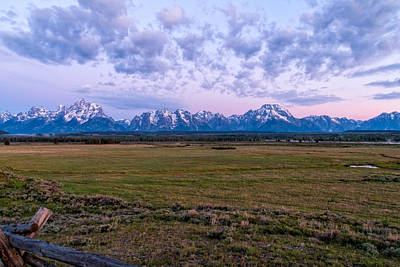Grand Tetons Before Sunrise 2 Poster by Brian Harig