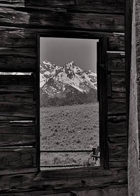 Grand Tetons Through The Window Poster