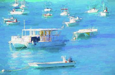 Grand Turk Island Boats Poster by Alice Gipson