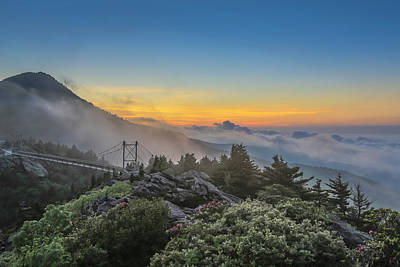 Grandfather Mountain Sunrise Poster
