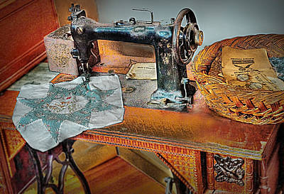 Grandma's Sewing Machine Poster by Michael Ciskowski