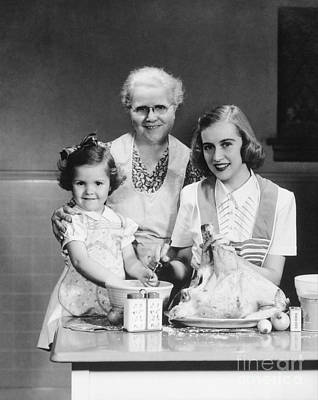 Grandmother, Mother And Daughter Poster by H. Armstrong Roberts/ClassicStock