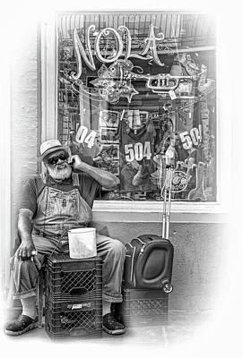 Grandpa Elliott Small - Vignette Bw Poster by Steve Harrington