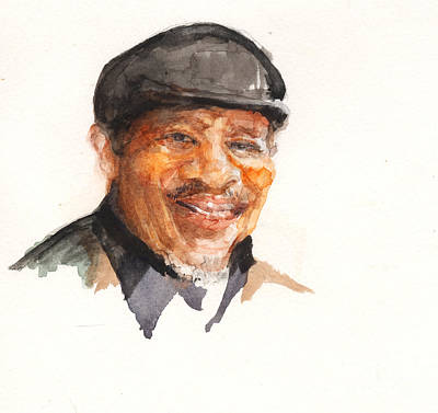 Poster featuring the painting Grandpa John Perkins by Nancy Watson