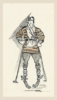 Grandpa's Skier Poster by Carol Deltoro
