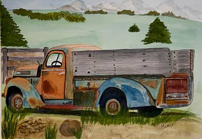 Grandpa's Truck Poster