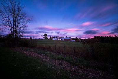 Grandview Farm Sunset Poster