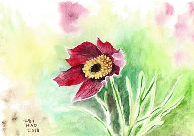 Granny Flower 2 Poster