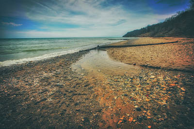 Poster featuring the photograph Grant Park - Lake Michigan Beach by Jennifer Rondinelli Reilly - Fine Art Photography