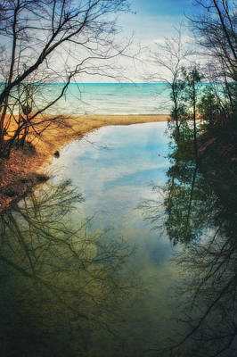 Poster featuring the photograph Grant Park - Lake Michigan Shoreline by Jennifer Rondinelli Reilly - Fine Art Photography