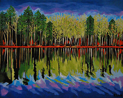 Grant's Lake Reflections Poster by Kathleen Sartoris