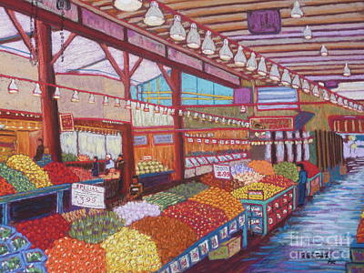 Granville Island Market Bc Poster by Rae  Smith