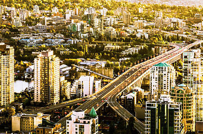 Granville Street Bridge Vancouver British Columbia Poster