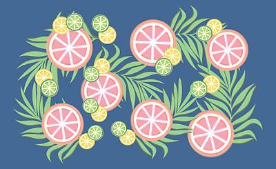 Grapefruit  Poster by Lauren Amelia Hughes