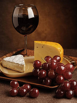 Grapes And Cheese Poster by Andriy Zolotoiy