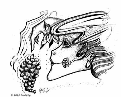 Grapes Poster by Gautschy Artist
