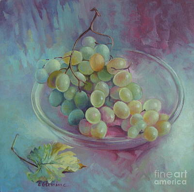 Grapes Poster by Elena Oleniuc