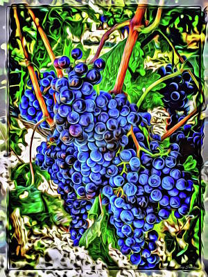 Grapes Full Poster by Roxy Hurtubise