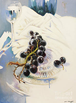 Grapes Poster by Lin Petershagen