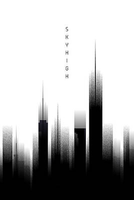 Graphic Art Skyhigh - White Poster by Melanie Viola
