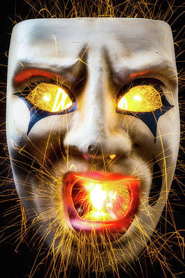 Graphic Hot Mask Poster by Garry Gay