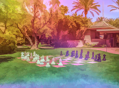 Poster featuring the photograph Graphic Rainbow Chess At The Biltmore by Aimee L Maher Photography and Art Visit ALMGallerydotcom