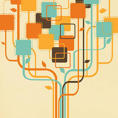 Graphic Tree Poster by Setsiri Silapasuwanchai