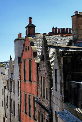 Poster featuring the photograph Grassmarket In Edinburgh, Scotland by Jeremy Lavender Photography