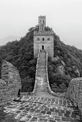 Poster featuring the photograph Great Wall 1, Jinshanling, 2016 by Hitendra SINKAR