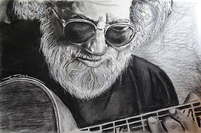Poster featuring the drawing  Grateful Dude by Eric Dee