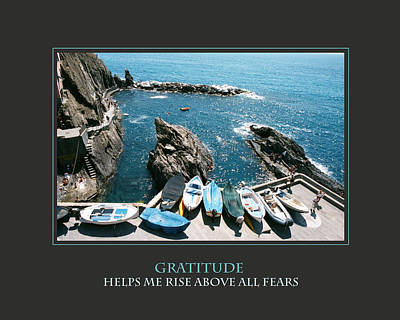 Gratitude Helps Me Rise Above All Fears Poster