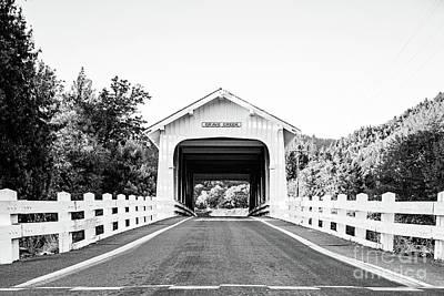 Grave Creek Bridge - Bw Poster