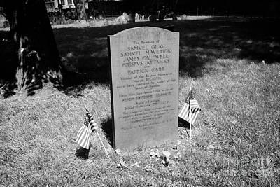 Grave Of Boston Massacre Victims Poster