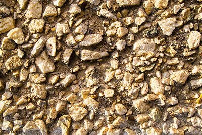Poster featuring the photograph Gravel Stones On A Wall by John Williams