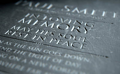 Gravestone In Loving Memory Poster by Allan Swart