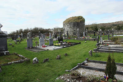 Poster featuring the photograph Graveyard Antigua Iglesia De Killinaboy Ireland by Marie Leslie