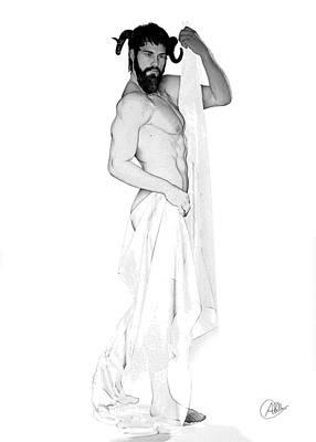 Dionysus Pencil Drawing Poster