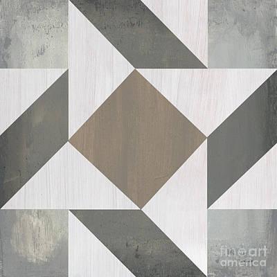 Gray Quilt Poster by Debbie DeWitt