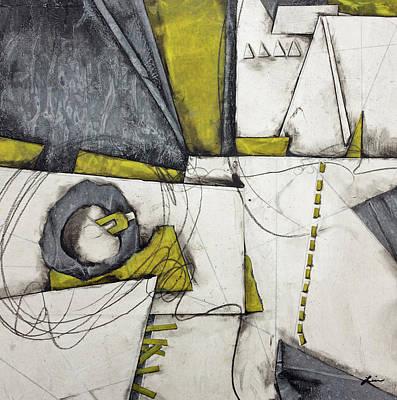 Gray, White, Green Gold  Poster by Laura Lein-Svencner