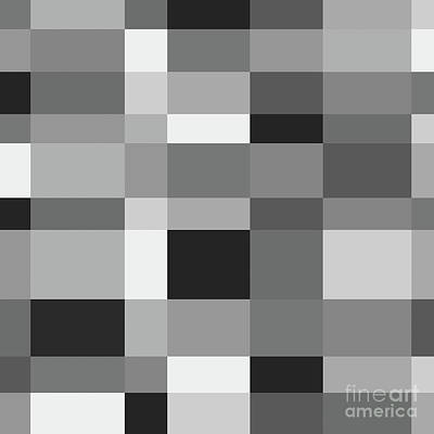 Poster featuring the digital art Grayscale Check by Bruce Stanfield