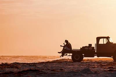 Grayton Beach Flatbed Sunset Poster
